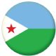 Djibouti Country Flag 25mm Flat Back